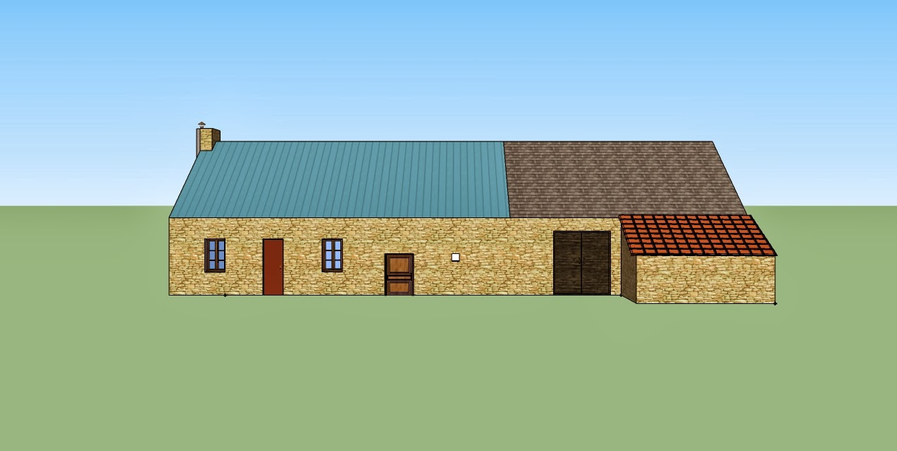 Projet maison vue diverse de la long re normande for Plan maison google sketchup