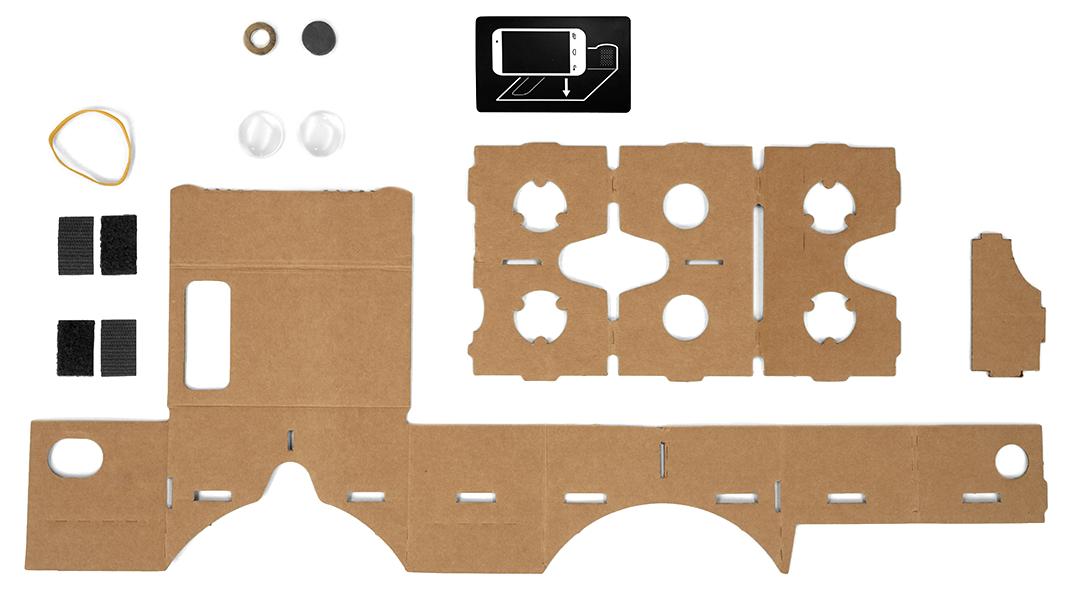 جوجل Cardboard جهاز الواقع الافتراضي المُصنوع يدويا من google