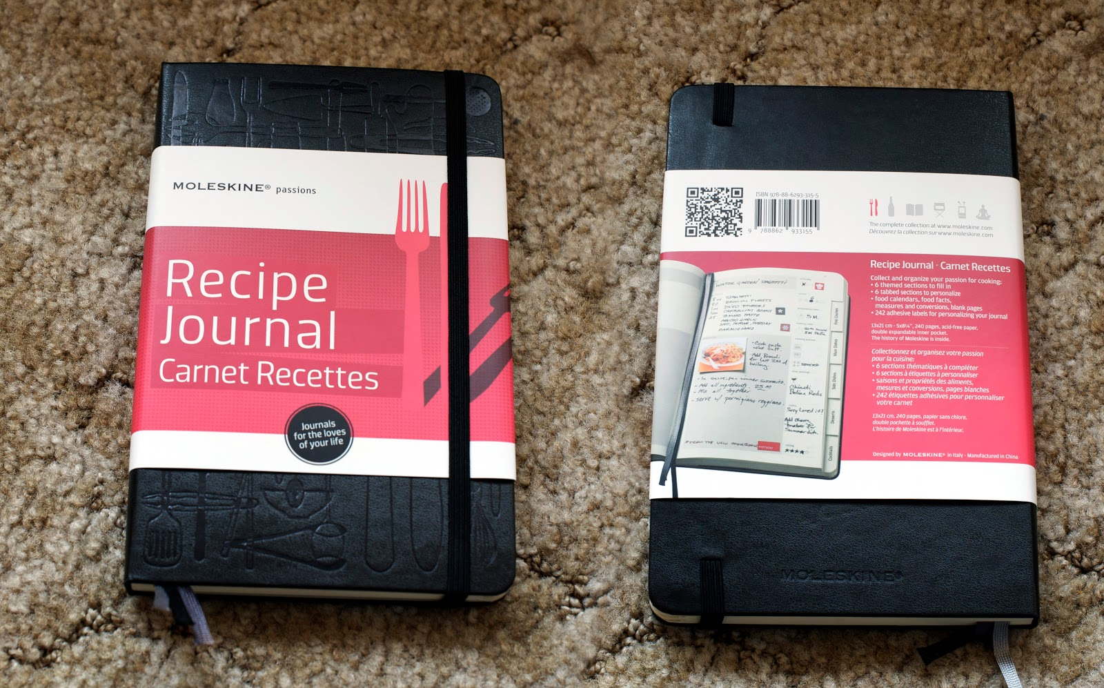 blank recipe journal