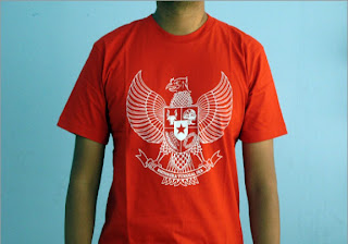 Kaos Distro Garuda Merah real | Distro Gaul