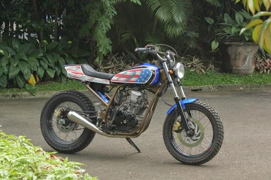 Modifikasi Motor Yamaha Scorpio ala Flat Tracker