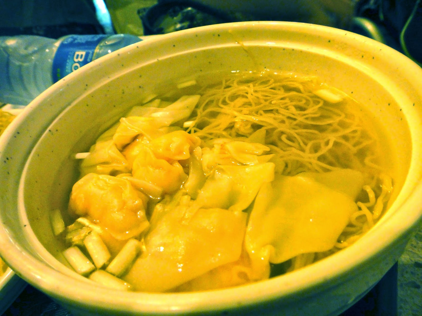 Prawn wantons soup noodle the Venetian food court Macao