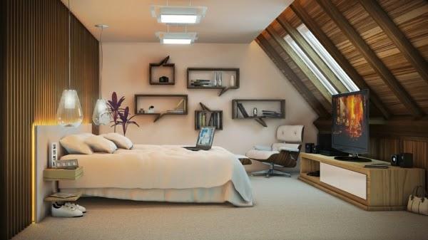 Lindos dormitorios en ticos dormitorios colores y estilos - Aticos de madera ...