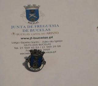 Amostra Junta Freguesia de Bucelas - Pin Bucelas