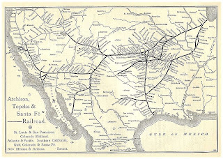 at and sf railroad map