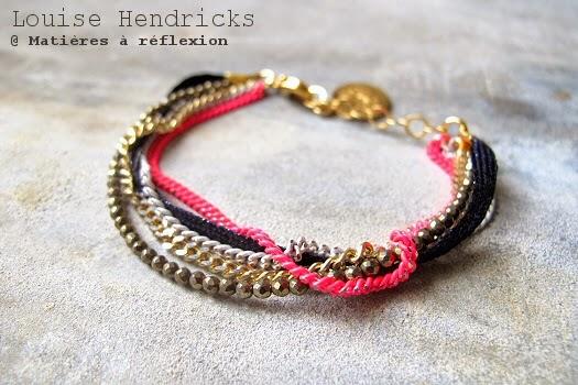 Bracelet coloré multi chaînes Louise Hendricks bijoux