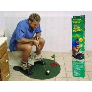 weird stuff on amazon - bathroom mini golf