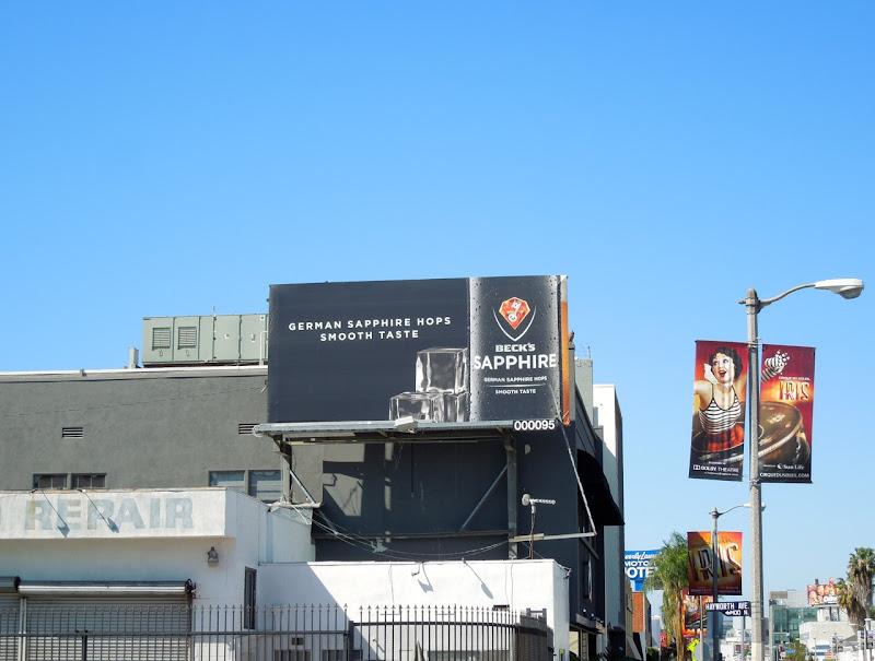 Becks Sapphire billboard