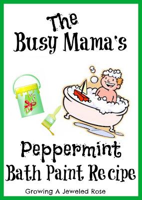 homemade bat paint- peppermint