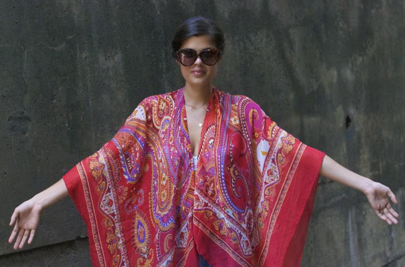 Кимоно из платков