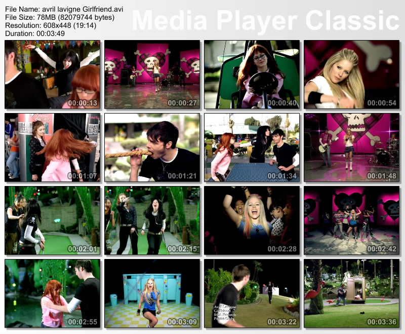 girlfriend avril lavigne video. girlfriend avril lavigne music