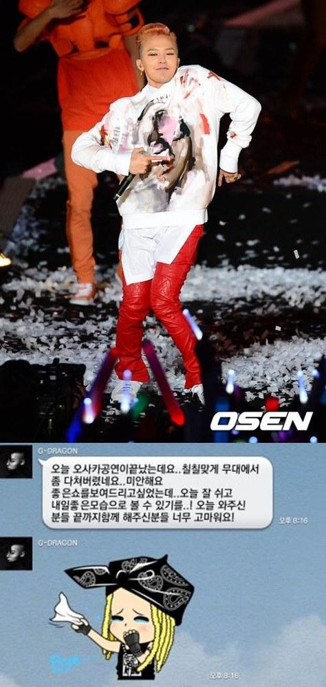 G-Dragon Cedera Konser Jepang