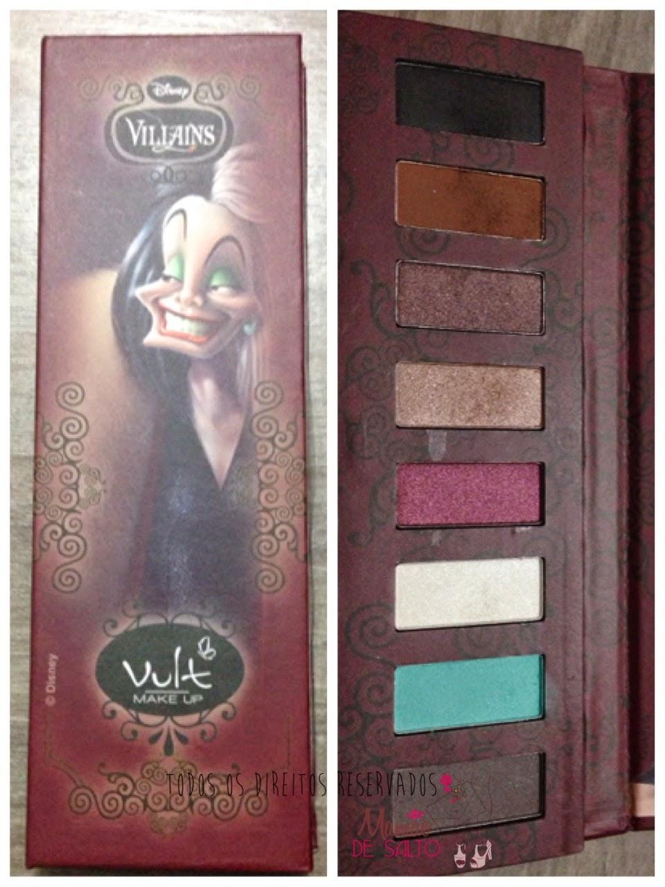Paleta de sombras Cruela De Vil Vult Make Up => blog Mamãe de Salto