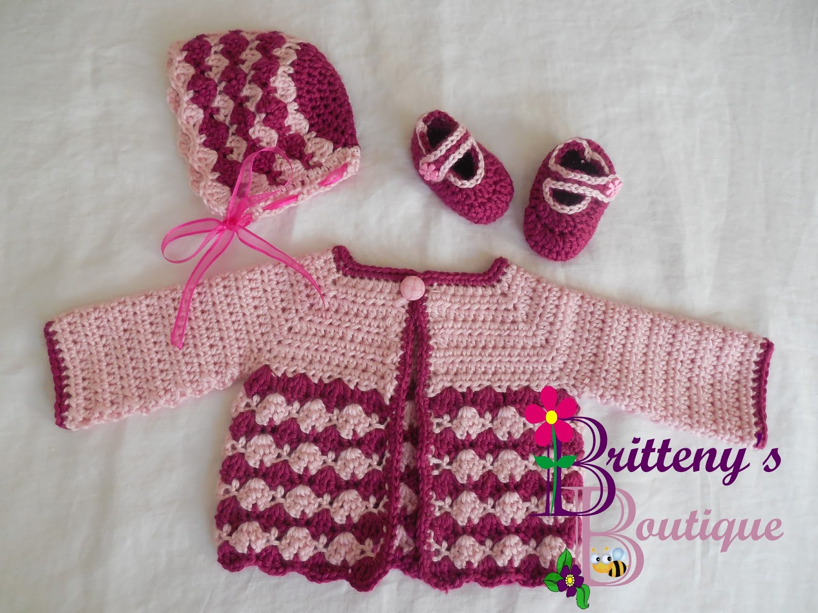 Britteny Off the HOOK!!: Berry Cute Sweater Set Crochet Pattern ...