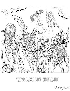 Walking dead para colorear