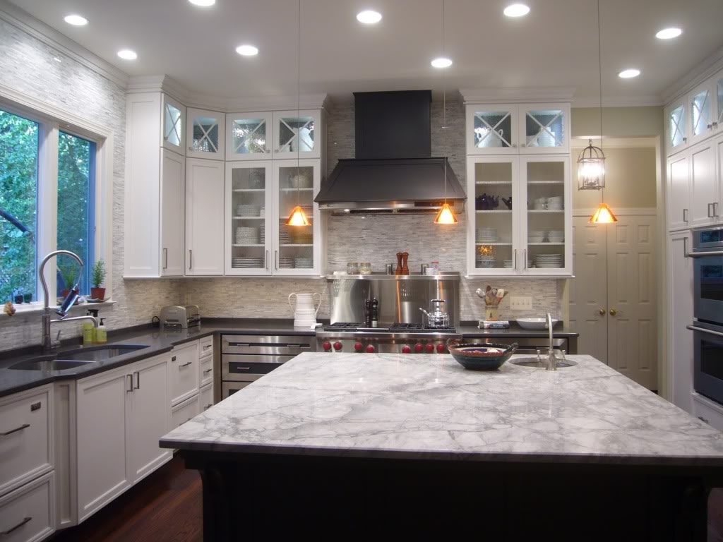 Hooked on hickory if you can 39 t stand the heat kitchen for White cabinets granite countertops