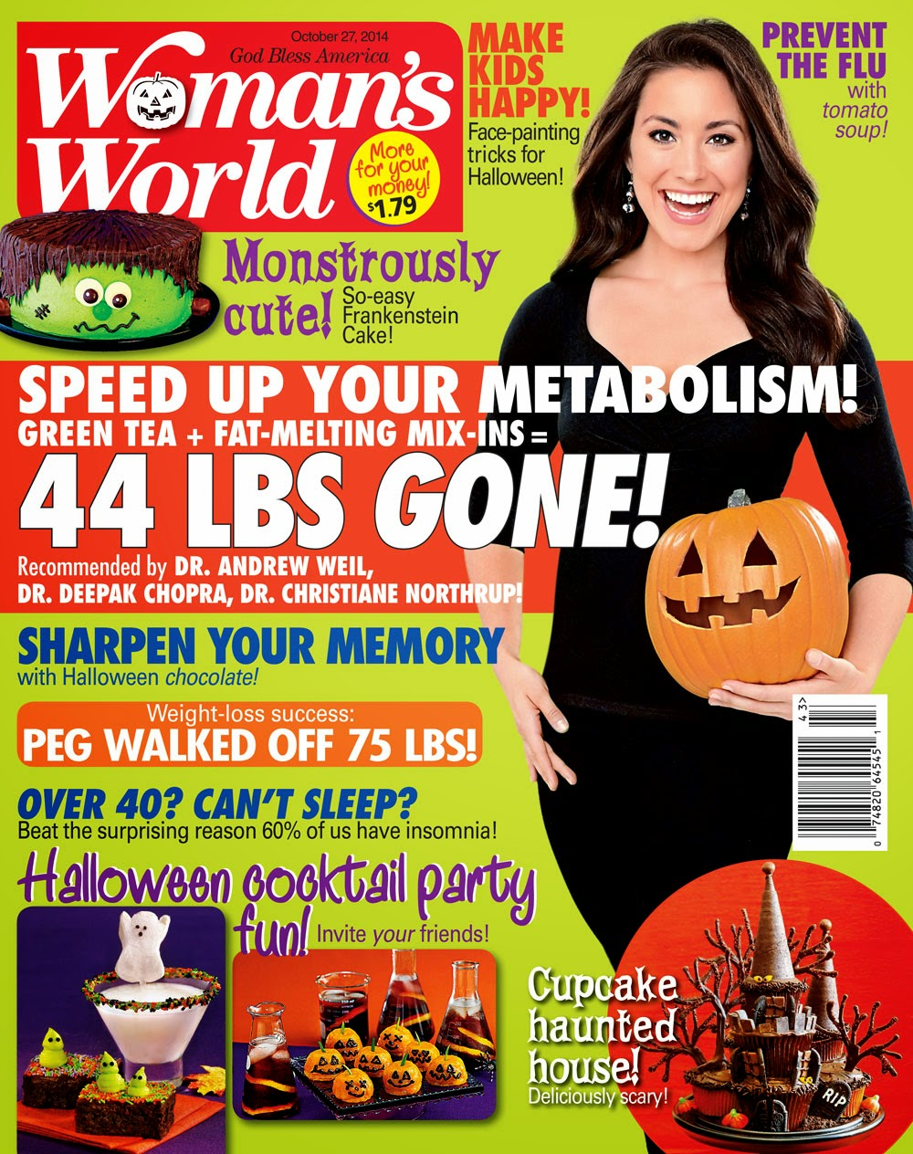 My cake on the cover of Woman's World magazine!