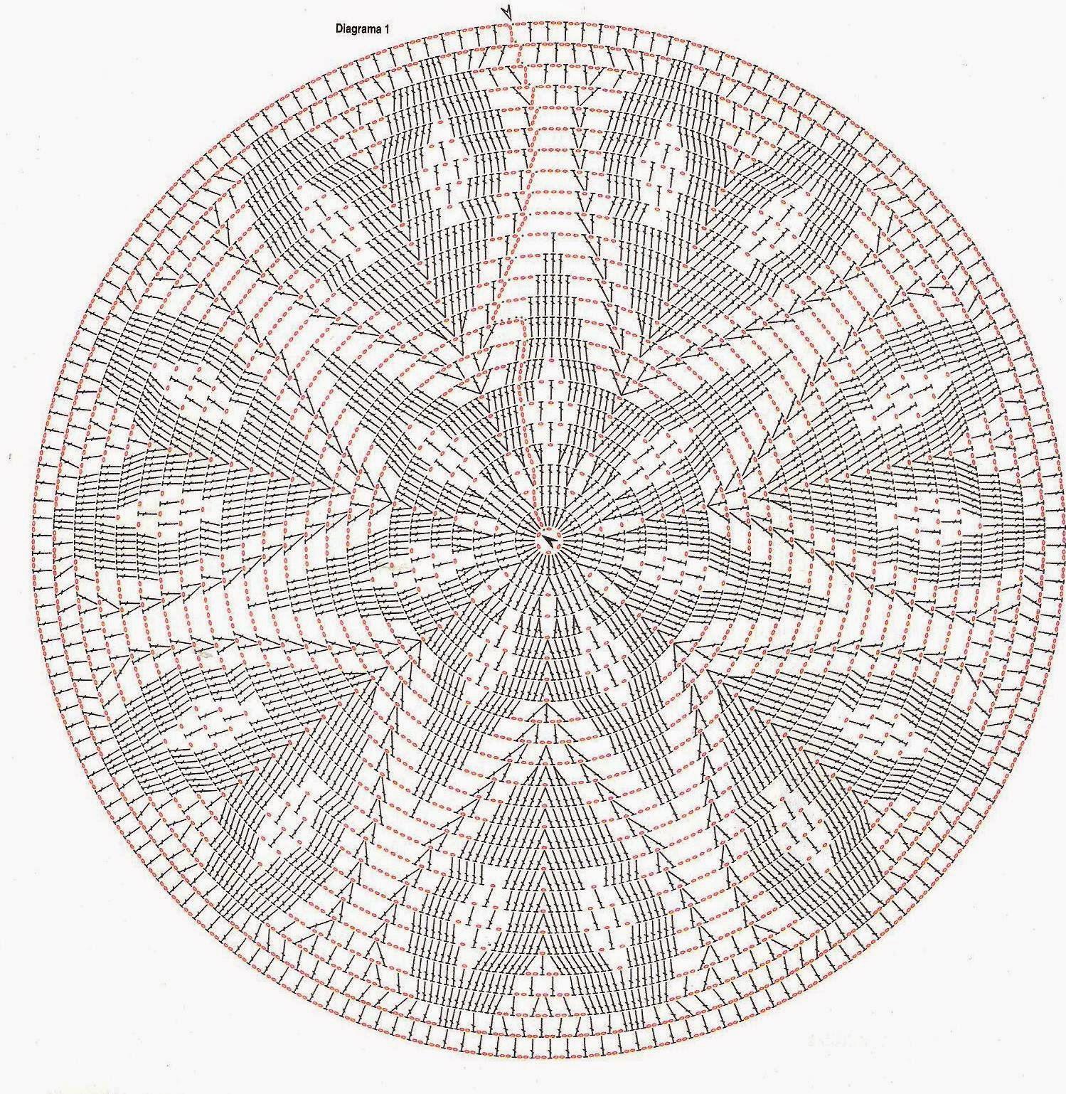 Feitos por mim by lu rontani gr ficos de tapetes em croch for Tejido persa
