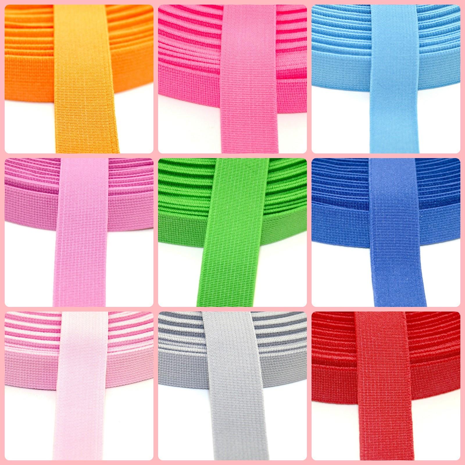 hochwertige bunte Gummibänder 20mm breit in meinem Dawanda-Shop