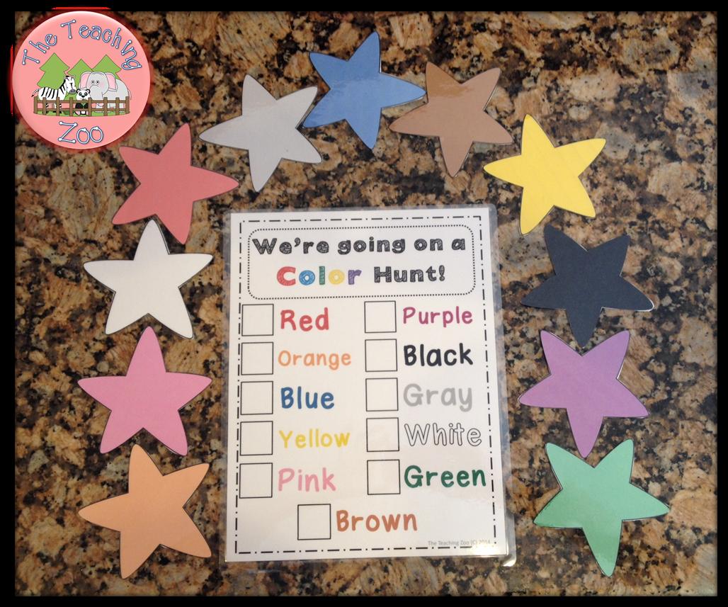 http://www.teacherspayteachers.com/Product/Were-Going-on-a-Color-Hunt-1321260