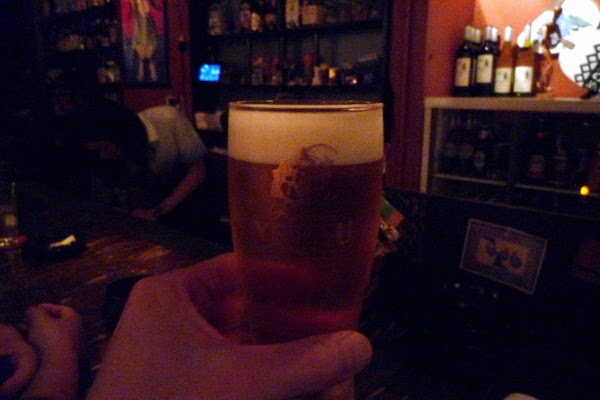 四条大宮「スピナーズ」 生ビール