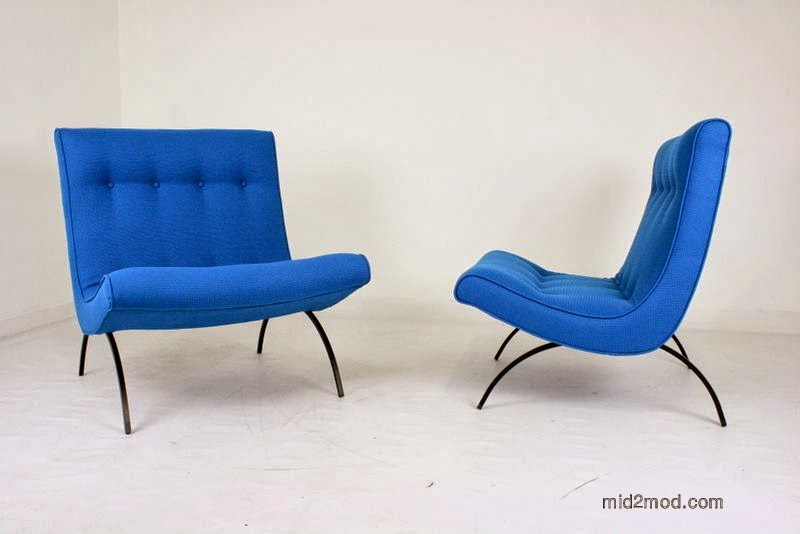 Wonderful Milo Baughman Scoop Chairs For Thayer Coggin