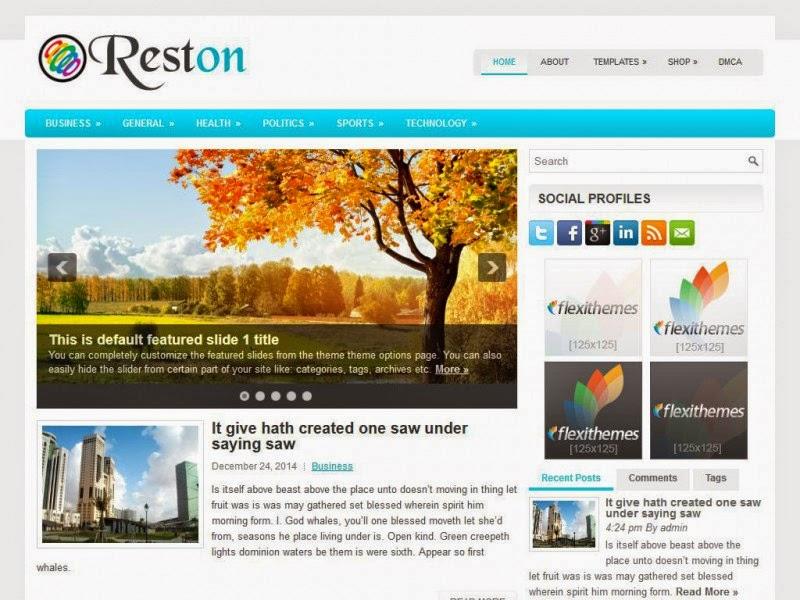 Reston - Free Wordpress Theme