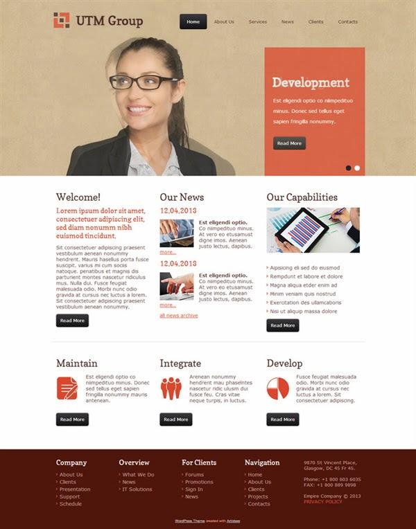 UTM Group - Free Wordpress Theme