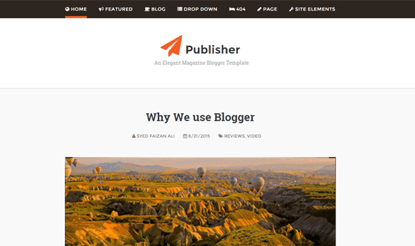 Download - Publisher Responsive Blogger/Blogspot Template