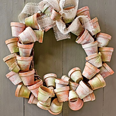 upcycled wreath DIY