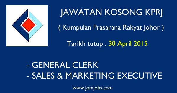 Jawatan Kosong Kumpulan Prasarana Rakyat Johor - April 2015