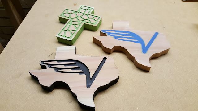 cedar magnets with various inlays