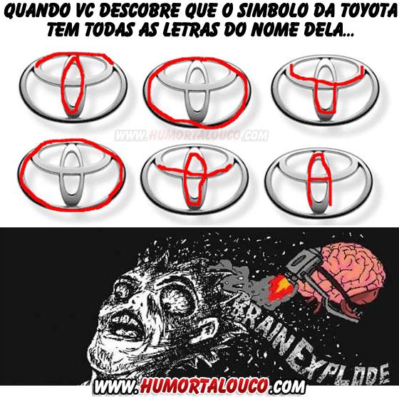 Quando você descobre a verdade sobre o logotipo da Toyota