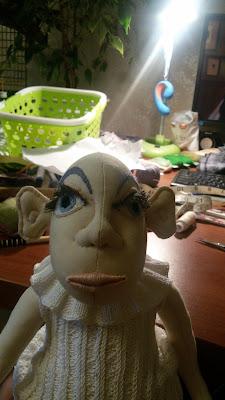 текстильная кукла, кукла по мотивам Джилл Маас, ручная работа