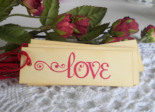 valentines day love gift tag