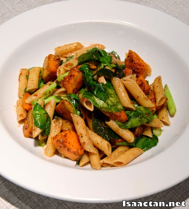 #2 Salted Egg & Pumpkin Penne with Asparagus & Spinach - RM22.90