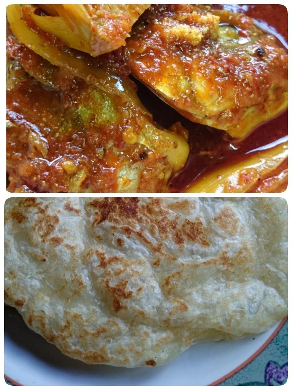 Roti Canai Segera dan Asam pedas ikan Kitang!