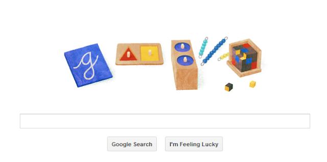 Maria Montessori's Google Doodle
