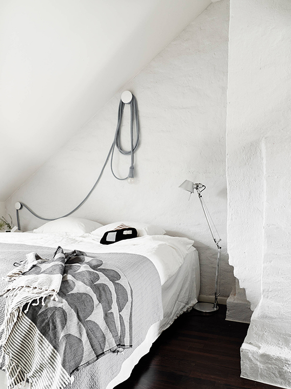 LOVE OR NOT: All white bedrooms | Image via Stadshem.