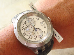 SWATCH CHRONOGRAPH SUNBURST SILVER DIAL - AUTOMATIC