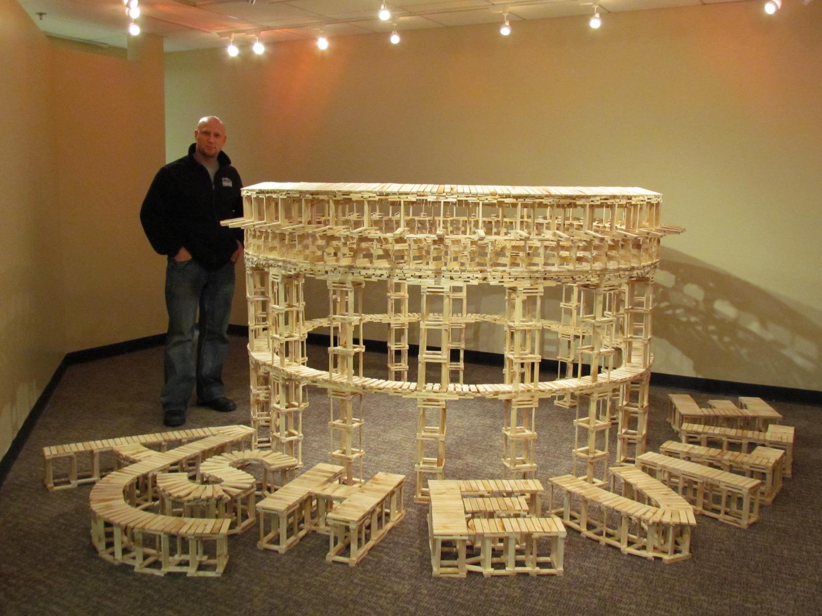 Make a construction set diy for Architecture kapla