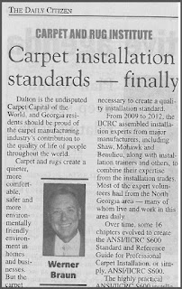 One standard simplifies carpet installation