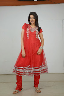 Actress Sakshi Choudhary Latest Picture Gallery in Red Salwar Kameez 0053.JPG