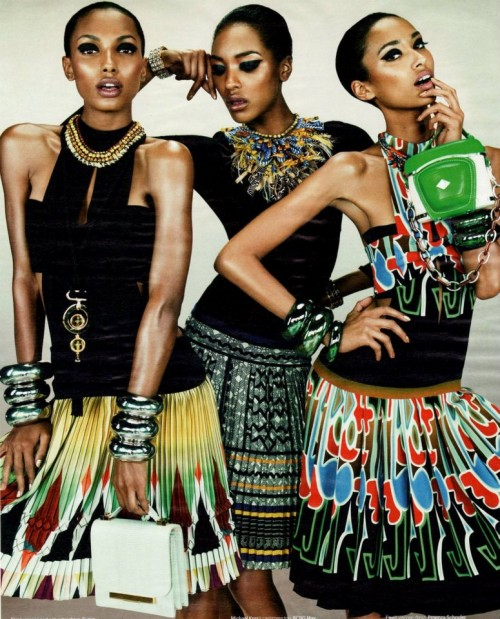 Anais Mali Jasmine Tookes Jourdan Dunn For W Magazine March 2012 Ciaafrique African