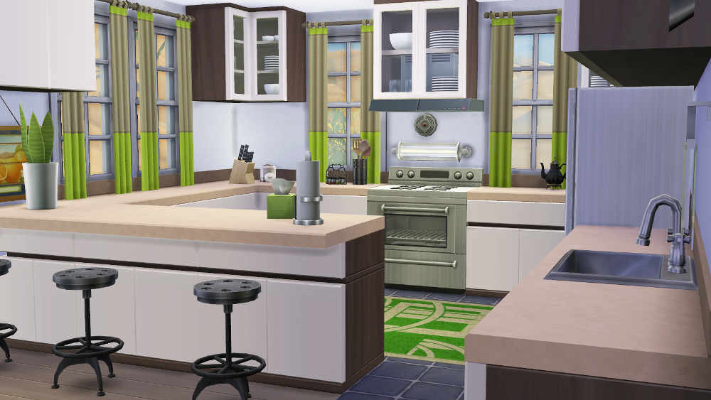 My sims 4 blog leafy green kitchen and dining room by for Sims 3 dining room ideas