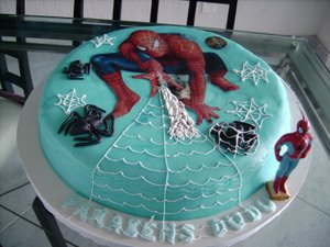 Bolo de Aniversário do Homem Aranha _ Decoração Festa Infantil Homem Aranha