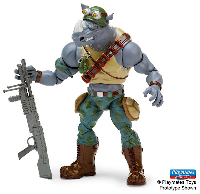 Playmates Teenage Mutant Ninja Turtles TMNT Classic Rocksteady figure
