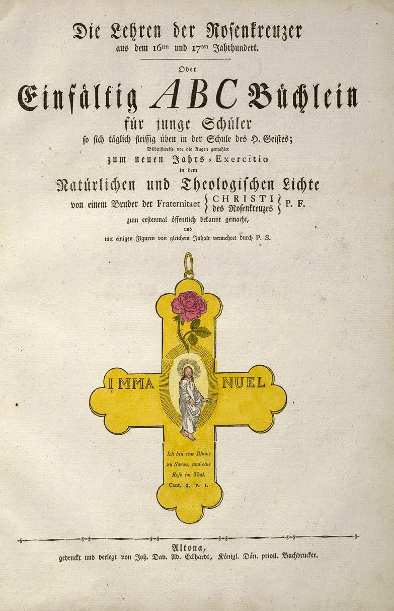 Rosa+Croce - Geheime Figuren der Rosenkreuzer - Altona 1785-1788