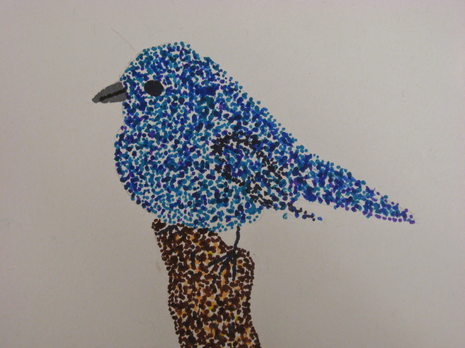 miss young 39 s art room pointillism birds with 5th grade students. Black Bedroom Furniture Sets. Home Design Ideas