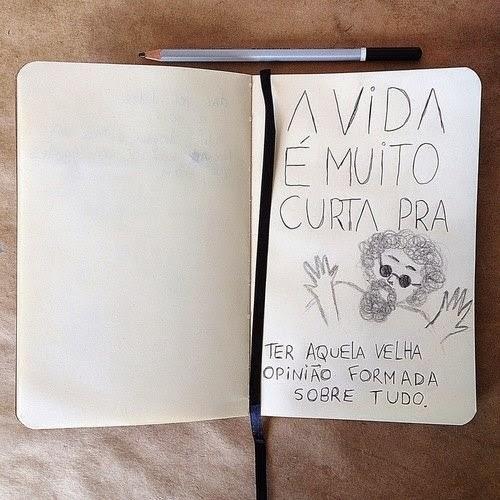 Frase: Raul Seixas - A vida é muito curta pra ter aquela velha opinião formada sobre tudo.